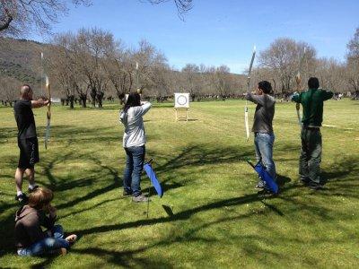 Archery session+MTB renting in El Escorial