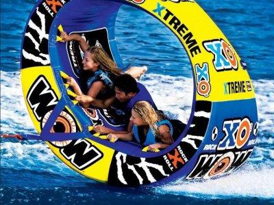 Inflatable doughnut Aguadulce beach, 20 min