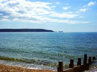 The coast of the Isle of Wight.