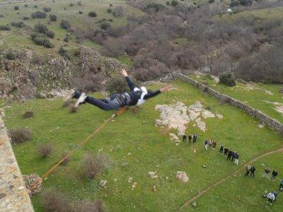 Bungee jumping + Zorbing + Zipline in Madrid