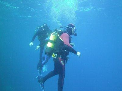 Scuba diving with scuba gear in Benidorm