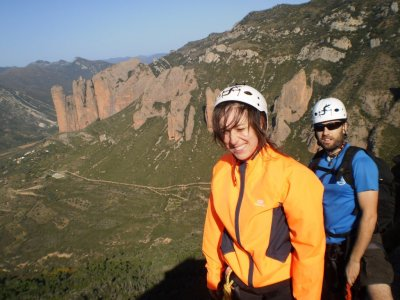 Via ferrata with archery and gymkhana in Guara
