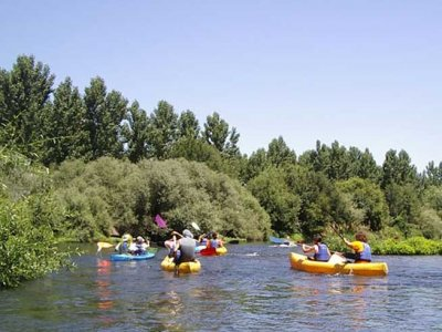 3h canoe route in Tormes river