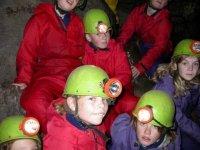 Minors in Miner's helmets