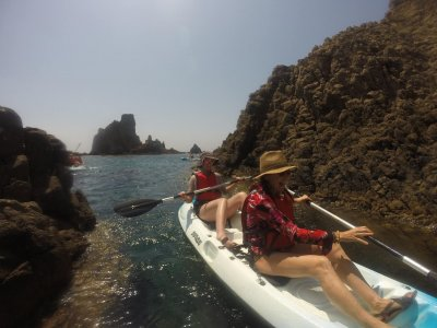Canoe and snorkel route + photos in Almeria