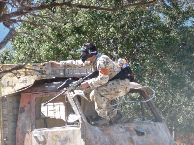 Paintball game in Collado Mediano 250 balls