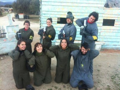 Nocturnal paintball in Collado Mediano 100 balls.