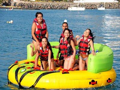 10min ride on the water sofa in Anfi del Mar