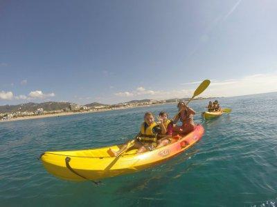 kayaking route, Calella's beach 1h