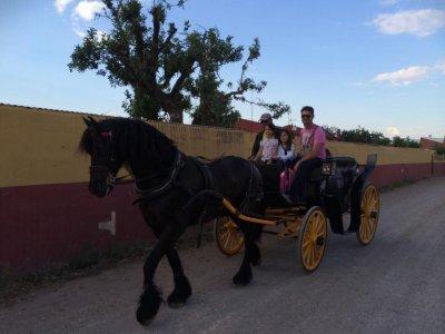 Horse carriage ride through Llíria 1 hour