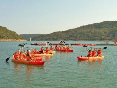 Three-seater kayak in Noguera 2 hours