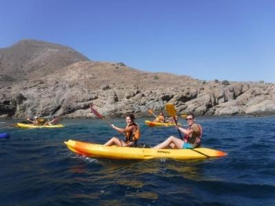 Kayak route over Las Negras, Cabo de Gata