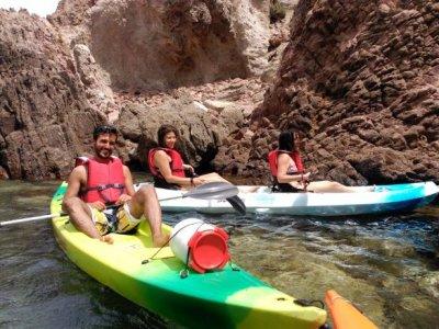 Kayaking around San José P.N. cabo de gata