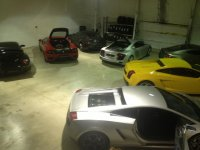 Inside the garage