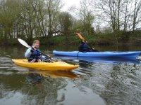 Kayaking at the river