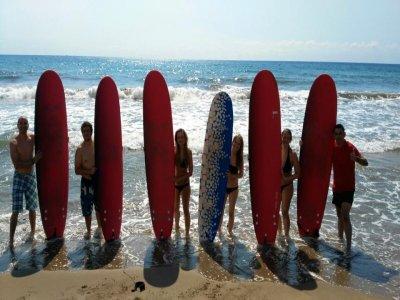 Junior surfing class in Mazarron