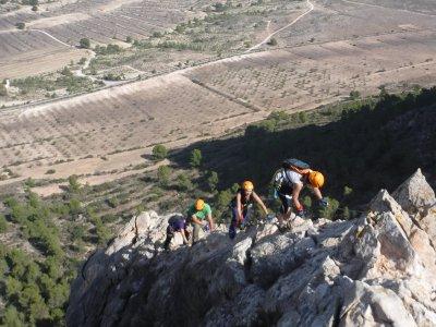 Via ferrata in Murcia, Lúgar, (Sierra de la Pila)
