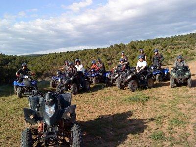 Single-seating quad biking in Molina de Aragón