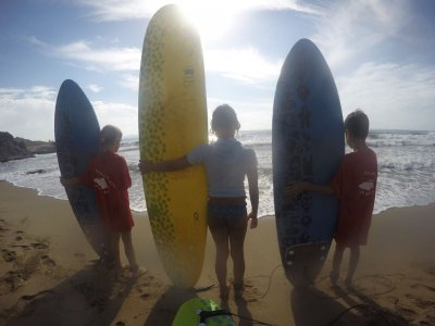 Surfing lesson for children in Puerto de Mazarron