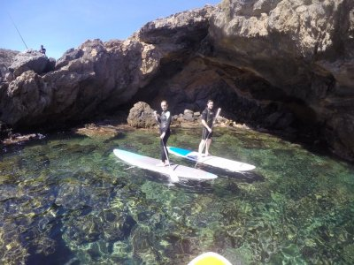 Wetsuit and SUP board renting Mazarrón 1h