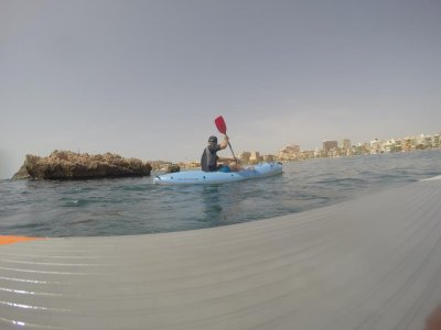1h Renting of single kayak in Mazarrón