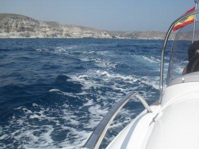 Yacht route in Cabo de Gata 5 coves kids