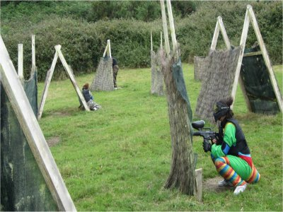 Paintball for kids in Amorebieta. 146 balls ammo