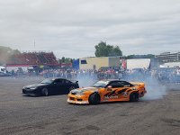Showing our skills at drifting and turning!