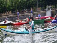 Kayaking in London.