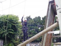High ropes is a great activity for many different groups.