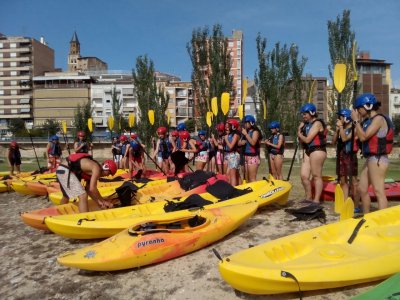 Guided kayaking trip in Cince or Segre River