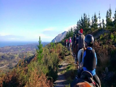 Horse riding route 2 hours in Ribadesella