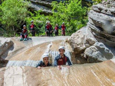 Canyoning in Pyrenees, medium level