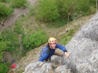 Climbing the crags with a smile