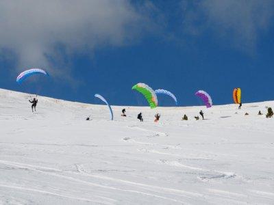Ski gliding in Cerler