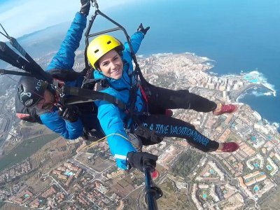 Paragliding in Izaña, Tenerife. Residents only