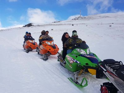 1h Extreme Snowmobile Tour in Encamp