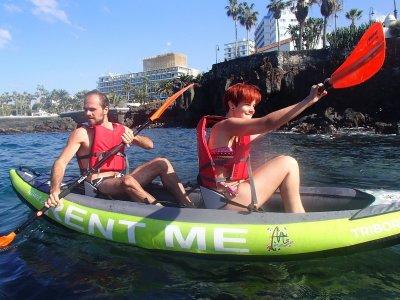 Kayak and snorkel in Puerto de la Cruz Tenerife 2h