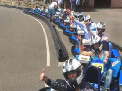 Karting race for bachelor party in Soto de Dueñas