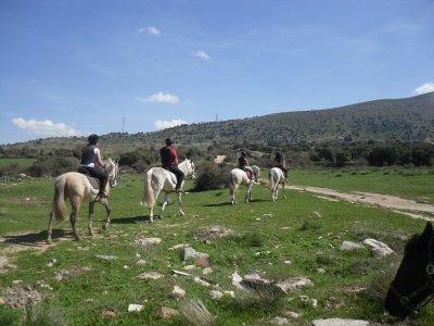 Pack 10 horse riding routes Ángeles de San Rafael