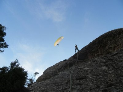 Climbing/Ferrata and paragliding in Montserrat