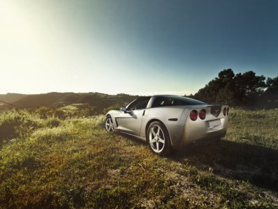 Drive a Corvette in Barcelona 20 Kilometers