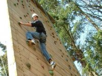 A climbing wall is available as well.