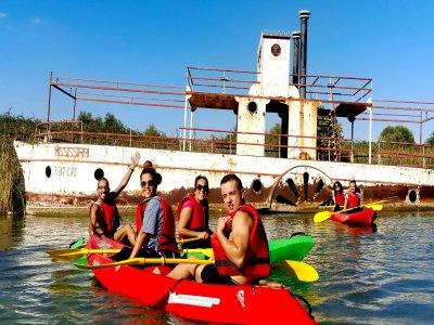 Canoe route in Arcos de la Frontera reservoir