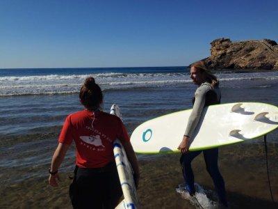Surfing board+neoprene rental 2 hours