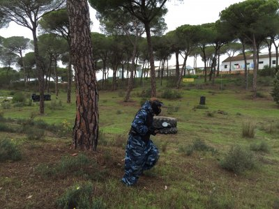 Paintball game in Cartaya, Huelva, 300 balls