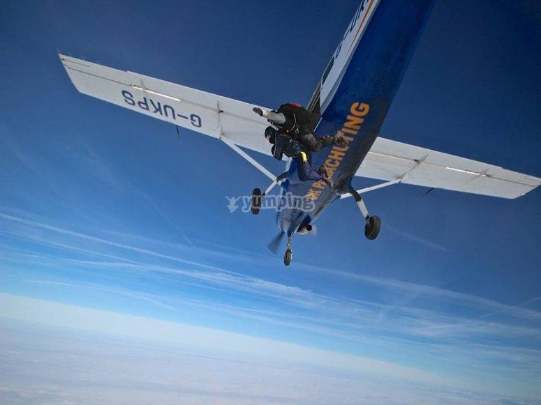 Flying across the sky