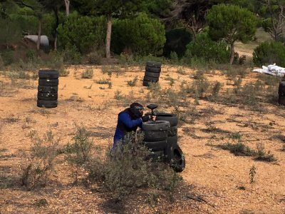 Paintball for kids in Cartaya with 200 balls