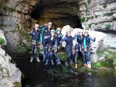 Caving in Cueva de los Chorros Bronze route