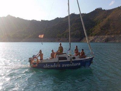 Sailing boat Fuensanta reservoir, 1/2 day
